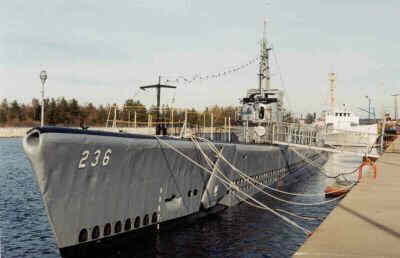 naval ship docked in port